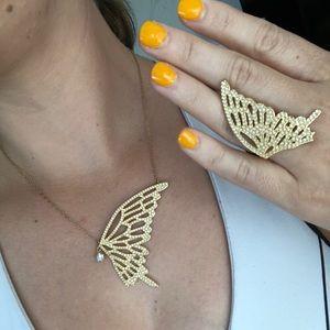 Swarovski Butterfly Necklace and Ring Set
